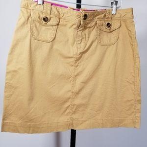 Old Navy Mini Skirt Tan Cargo Pockets Sz 14